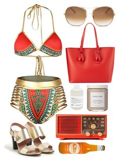 """""""Untitled #5011"""" by prettyorchid22 ❤ liked on Polyvore featuring Max&Co., Chloé, Neiman Marcus, French Girl, Davines and Retrò"""