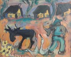 S3019 Frans Claerhout South African Artists, Naive Art, Old Master, Donkeys, Masters, Arts And Crafts, Diy Projects, Ear, Passion