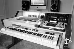 DIY fully custom built Studio Desk - B&W - Gearslutz Pro Audio Community