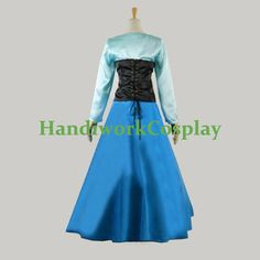 Ariel Dress Ariel Costume Blue Ariel Cosplay by HandiworkCosplay
