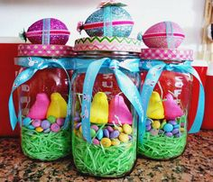 Easter Chick Egg Mason Jar easter chick egg mason jar, crafts, easter decorations, mason jars, seasonal holiday decor The post Easter Chick Egg Mason Jar appeared first on Crafts. Hoppy Easter, Easter Gift, Easter Eggs, Easter Chick, Easter Food, Easter Table, Easter Party, Easter Bunny, Easter Projects