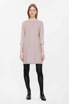 COS | Wool dress with silk sleeves