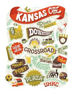 Kansas City art print by Dave Douglass