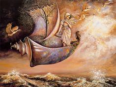 Josephine Wall 1947 | British Mystical Fantasy painter