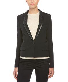 THE KOOPLES The Kooples Leather Trim Studded Jacket'. #thekooples #cloth #jackets