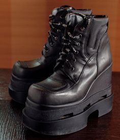 b109bac46c0 HEX gothic club kid Rave Italy platform boots. Unique