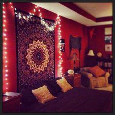Bohemian Room Decor Inspiration Ideas On Room Design Ideas  17770  Twinkle lights and red room   Tumblr Rooms     Pinterest   Room  . Red Room Decor. Home Design Ideas
