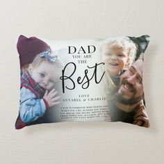 'DAD' you are the Best Photos Name & Quote Plaque Accent Pillow - tap/click to personalize and buy #AccentPillow #photo #collage, #best #dad #ever, First Fathers Day, Fathers Day Cards, Happy Fathers Day, Accent Pillows, Soft Pillows, Decorative Throw Pillows, Name Quotes, Unique Gifts For Dad, Photo Pillows