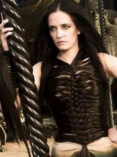 "Eva Green says the human hair vest in Rise of an Empire was like a ""second skin. Rick Owens, Eva Green 300, Movie Costumes, Celebs, Celebrities, Unisex, All Fashion, Beautiful Actresses, Films"