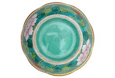 Hand-Painted Turquoise Bowl