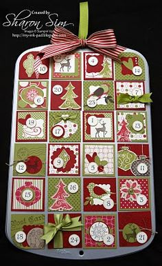 One of the Cutest Advent Calendars I've seen in ages! Love this!