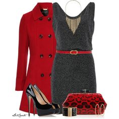 Dress, Pumps & Clutch, created by lv2create on Polyvore