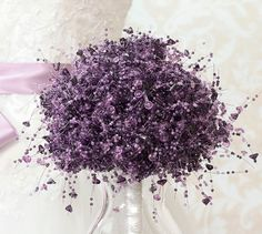 Wedding Bouquet - Purple Beaded Bridal Bouquet - Light Lavender and Purple - Wedding Bouquets - Fabulous Brooch Bouquet Alternative. $200.00, via Etsy.