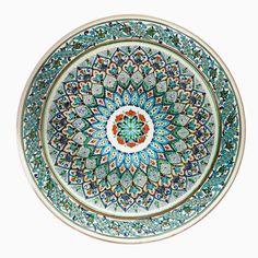 Uzbekistan's Fergana Valley is famous for its ceramics, and the city of Rishtan.. Rustam Usmanov's master.