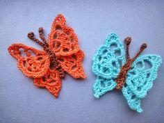 Вязание крючком Crochet : БАБОЧКА  BUTTERFLY Crochet