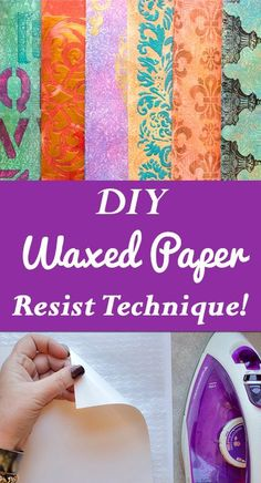 DIY Embossed Waxed Paper Resist Technique by Heather Tracy for The Graphics Fairy! Such a great Craft Technique!DIY Embossed Waxed Paper Resist Technique by Heather Tracy for The Graphics Fairy! Such a great Craft Technique! Big Shot, Origami, Easy Homemade Gifts, Diy Wax, Diy Blanket Ladder, How To Make Labels, Cricut, Bath Bomb Recipes, Just Dream