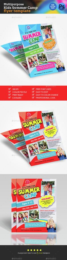 Childcare Nursery Flyer Childcare, Flyer template and Nursery - summer camp flyer template