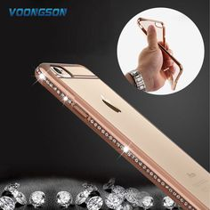 >> Click to Buy << VOONGSON Luxury Rhinestone Frame Case For iphone 7 6 6s 5 5S SE Clear Soft TPU Crystal Diamond Cover For iphone 6 6S 7 Plus #Affiliate