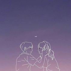 Wallpaper Bible, Soft Wallpaper, Anime Scenery Wallpaper, Bear Wallpaper, Cute Couple Drawings, Cute Couple Art, Anime Love Couple, Cute Drawings, Anime Romans