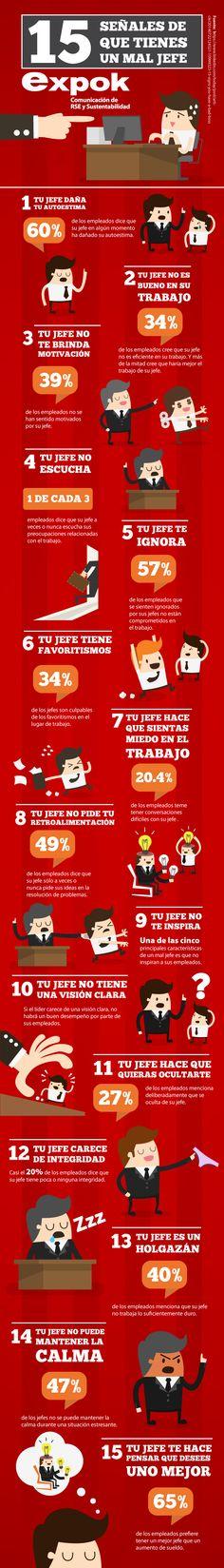 Infografía: 15 señales de que tienes un mal jefe