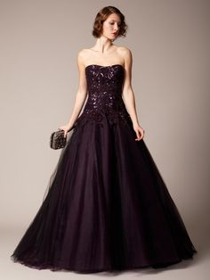 Marchesa Couture  Tulle Organza Butterfly Applique Ball Gown  $2,699
