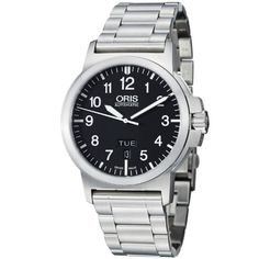 Men's Wrist Watches - Oris BC3 Black Dial Stainless Steel Mens Watch 73576414164MB ** Read more reviews of the product by visiting the link on the image. (This is an Amazon affiliate link)