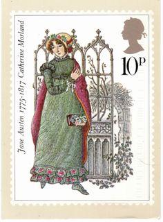 England, Jane Austen Postage Stamp postcard Prinz Charles, Prinz William, Royal Mail Postage, Fantasy Quotes, Jane Austen Books, Going Postal, Pride And Prejudice, Fauna, Stamp Collecting