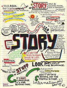 STORY Seminar with Robert McKee-- great set of visual notes-- warning: language
