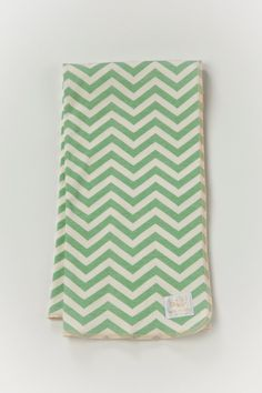 Organic baby blanket Mint chevron swaddle large by luckypalmtree