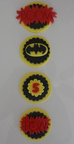 Batman Fondant Cupcake Toppers  Item 467 by arleenstoppers on Etsy, $24.00