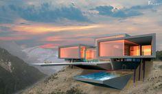 Futuristische Wohnhäuser, Einfamilienhäuser & Firmengebäude