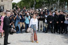 Camille RowePourcheresse attends the Christian Dior Haute Couture Fall/Winter 20172018 show as part of Paris Fashion Week on July 3 2017 in Paris...