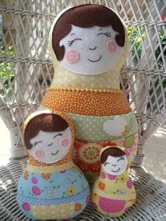 How sweet - pillows that look like nesting dolls!