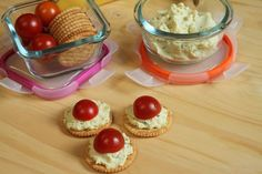 Toby's Tofu spread is amazing on crackers with veggies. Simple, easy way to eat healthier