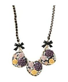 Betsey Johnson Fabulous Flowers 3 Heart Frontal Necklace #accessories  #jewelry  #necklaces  https://www.heeyy.com/suggests/betsey-johnson-fabulous-flowers-3-heart-frontal-necklace-multi/