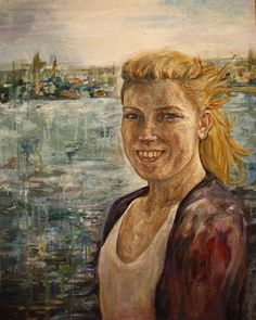 Laura oil on board 72 x 90