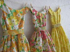 Custom made vintage inspired tea dresses (choice of vintage fabrics) $150 each by sohomode on etsy