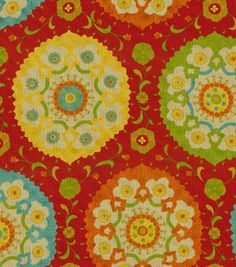 Home Decor Print Fabric-Richloom Studio Marmande Garden    maybe an accent fabric in DR?  Don't want a lot of red.