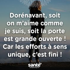 Oh yeah ! Words Quotes, Sayings, Proverbs Quotes, French Quotes, Think, My Mood, Positive Attitude, Positive Affirmations, Sentences