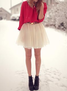 tulle skirt + boots