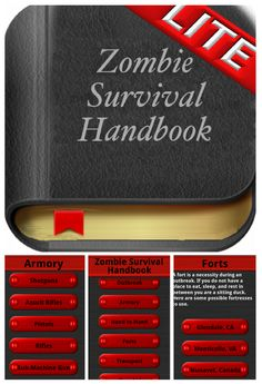 The Zombie Survival Handbook Lite - I didn& realize there were apps to help you during the Zombie Apocalypse, though I guess there& pretty much an app for everything. :) This one is interesting, and it& free! Doomsday Prepping, Survival Prepping, Emergency Preparedness, Survival Skills, Disaster Plan, Zombie Apocalypse Survival, Protecting Your Home, Man Vs, Shtf