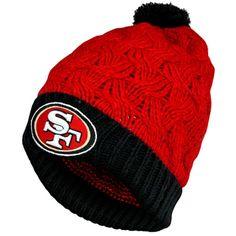 47 Brand San Francisco 49ers Ladies Matterhorn Cuffed Beanie -  Scarlet Black 203bbd8855da