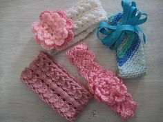 Crochet+for+Knitters | Knitting: Four Baby Headbands to knit & Crochet