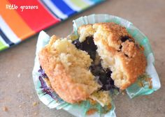 Apple and Blueberry Muffins. No milk or sugar
