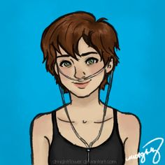 Hazel Grace, The Fault in Our Stars (c) John Green a grenade The Fault In Our Stars, Female Book Characters, Fictional Characters, Hazel And Augustus, Hazel Grace Lancaster, John Green Books, Fanart, Book Challenge, Tfios