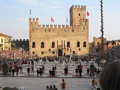Human chess game in Marostica, Province of Vicenza , Veneto region Italy