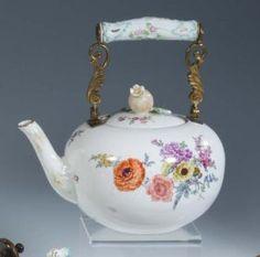 Teekanne Meissen Porzellan Porcelain Tea Pot