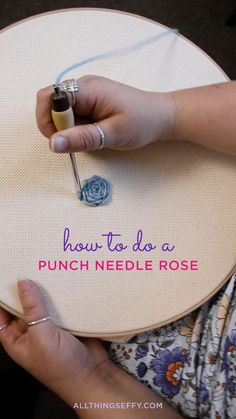 Basic Hand Embroidery Stitches, Hand Embroidery Patterns Flowers, Embroidery Stitches Tutorial, Hand Embroidery Designs, Embroidery Kits, Punch Needle Kits, Punch Needle Patterns, Crochet Waffle Stitch, Crochet Square Patterns