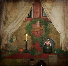 A past Christmas at Candy Looker's home.