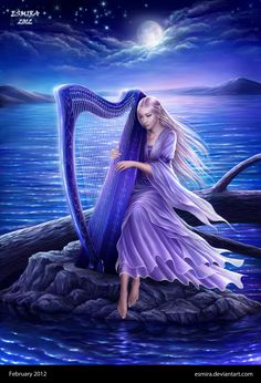 Midnight Harp by Esmira.deviantart.com on @deviantART